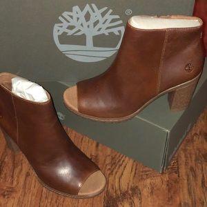 Timberland peeptoe booties